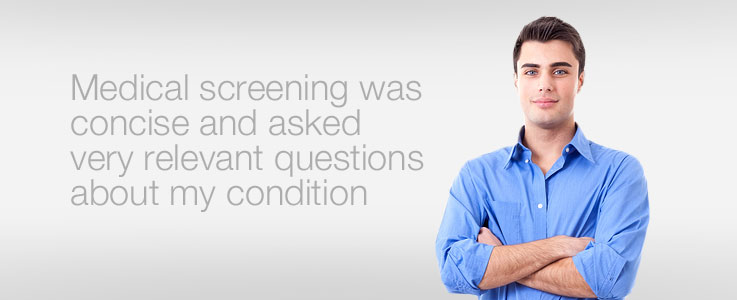 Medical screening was concise and asked very relevant questions about my condition.