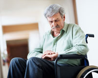 Old Man In Wheelchair Clipart - Medical Mobility Equipment