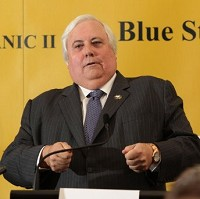 Clive Palmer unveiling plans for the Titanic II