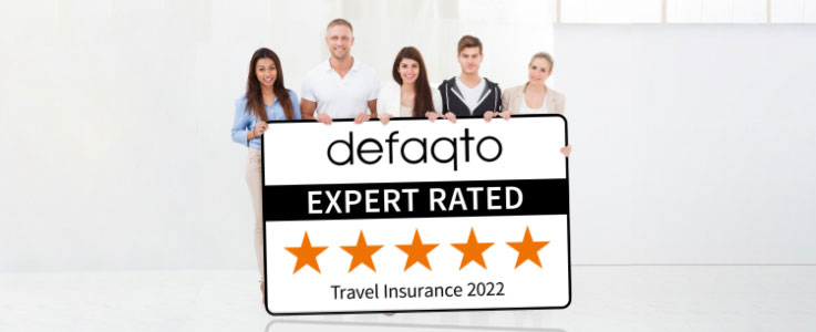 Defaqto Expert Rated - Travel Insurance