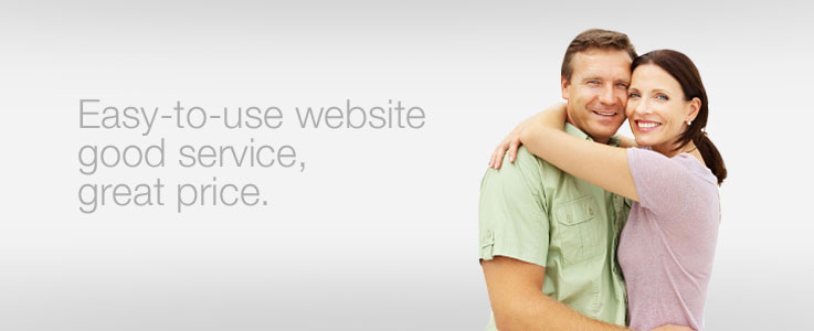 Easy to use website, good service, great price.