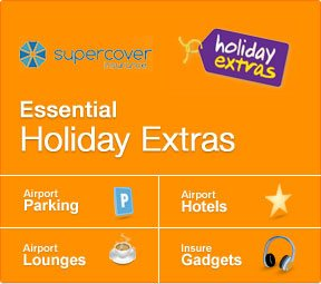 Essential Holiday Extras - airport parking, airport hotels, airport lounges