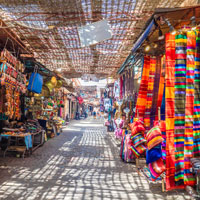 Find local goods in Morocco's maze-like markets