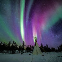 Take a front row tent at Earth's greatest light show