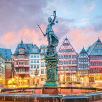 Enjoy Frankfurt's 'new' old town surrounded by half-timber houses.
