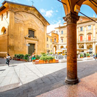 Dine on the enchanting Marco Biagi Square