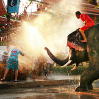Songkran is the world's biggest water fight