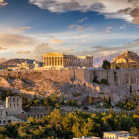 The Acropolis at sunset