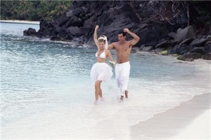 Wedding and honeymoon 'go together abroad'