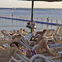 The Red Sea resort of Sharm el Sheikh remained calm throughout the crisis, and Britons have not been advised to avoid it