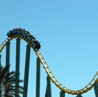 One couple say they have spent around £60,000 riding rollercoasters since 1994