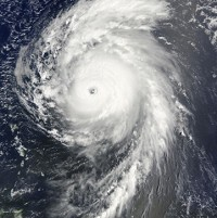 Two hurricanes were being monitered in the US yesterday