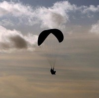 A couple from Sunderland tried their hand at paragliding during a holiday in Turkey