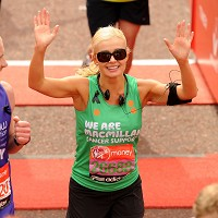 Opera star Katherine Jenkins has signed to perform on two short P&O Cruises. The singer is shown here finishing last Sunday's London Marathon
