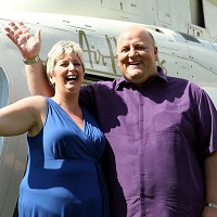Adrian and Gillian Bayford, who won £148 million on the Euromillions, flew off on holiday on an easyJet flight