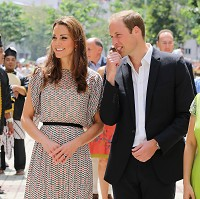 The royal couple were in Switzerland to attend the wedding of friends of theirs