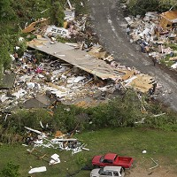 A second straight night of storms ripped through northern Arkansas in the US on Tuesday, taking the death toll to 11