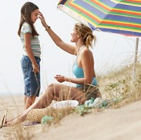 Many parents forget to use sun cream despite smothering it on their children