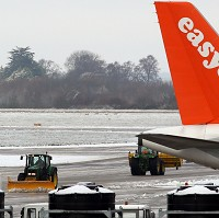 The company easyJet has warned that passengers could expect delays at European airports due to the recent snow