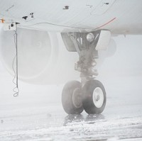 Snowstorms in the US grounded flights into Britain