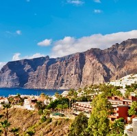 Los Gigantes, Tenerife. The Canary Islands are a popular attraction for British tourists this Christmas