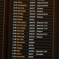 Dozens of flights were cancelled or delayed in the UK due to icy conditions and freezing fog