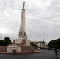 The Freedom Monument in the centre of Riga, Latvia