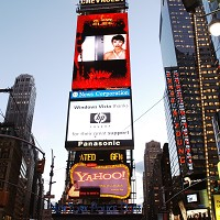 Times Square: New York is being gripped by a flu epidemic