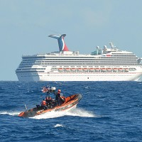 An engine fire left passengers on board the Carnival Triumph stranded off the coast of Mexico (AP)