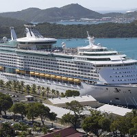 Passengers on board the Royal Caribbean cruise ship, Explorer of the Seas, became violently ill (AP Photo/Thomas Layer)