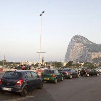 Increased vehicle searches by Spanish border guards have caused delays for tourists visiting Gibraltar (AP)