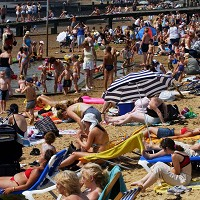 Holidaymakers have been urged to make sure they take sensible precautions to avoid sunburn