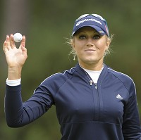 Natalie Gulbis this week returned to the golf course after suffering malaria