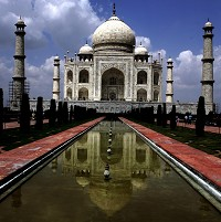 The Taj Mahal, one of India's top tourist destinations