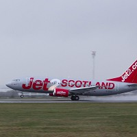 Low-cost airline Jet2.com has begun operating flights out of Glasgow Airport