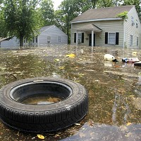 Memphis neighbourhoods have been hit following the Mississippi River floods