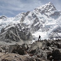 The doctor spent time treating climbers and locals in the Himalayas