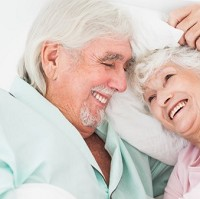 Almost two thirds of pensioners say they are happy with their lovelife, a survey has revealed