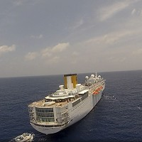 The Costa Allegra cruise ship has been disabled by an engine fire since Monday (AP)