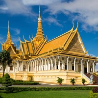 The Royal Palace in Phnom Penh, Cambodia, which is said to be the world's cheapest backpacking destination