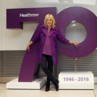 Joanna Lumley and Heathrow turned 70 in May