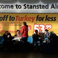 Stansted airport: a power failure led to massive queues