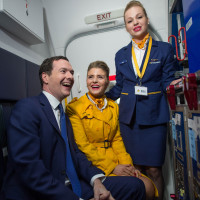 George Osborne meets cabin crew during his visit