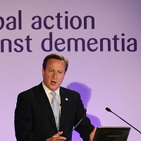 David Cameron speaking at the first Global Dementia Legacy Event