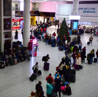 Significant disruption was caused at Gatwick before Christmas by drones