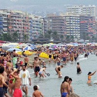 Holidaymakers enjoy the sun on Spain's Costa del Sol