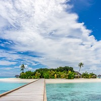 The Maldives are popular with honeymooners