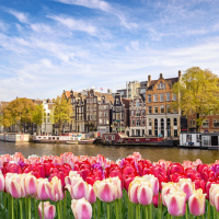 The Eurostar route between London and Amsterdam opened in April 2018