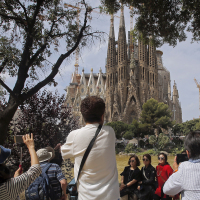 Security fears affecting other places may have helped boost visitors to Catalonia