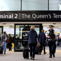 Security was stepped up at Heathrow on Wednesday